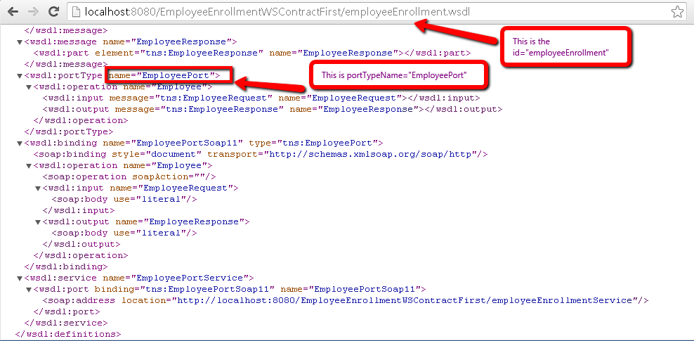 Web Service Contract First using Spring-WS